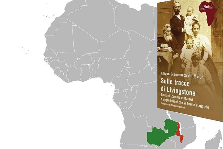particolare della copertina del libro e profilo dell'Africa
