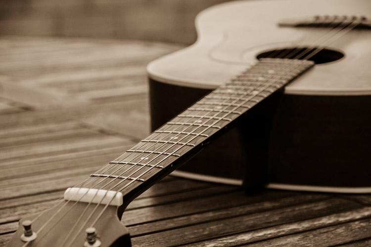 particolare di una chitarra