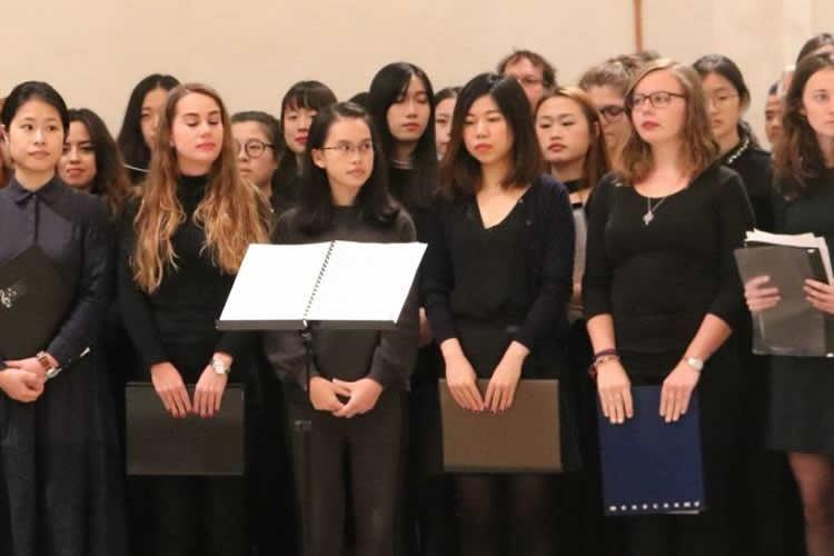 il coro dell'Università per Stranieri di Perugia