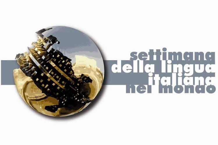Logo della settimana della lingua italiana nel mondo