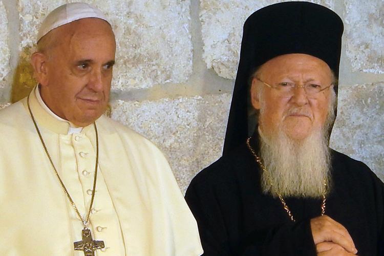 Il patriarca Bartolomeo I e Papa Francesco