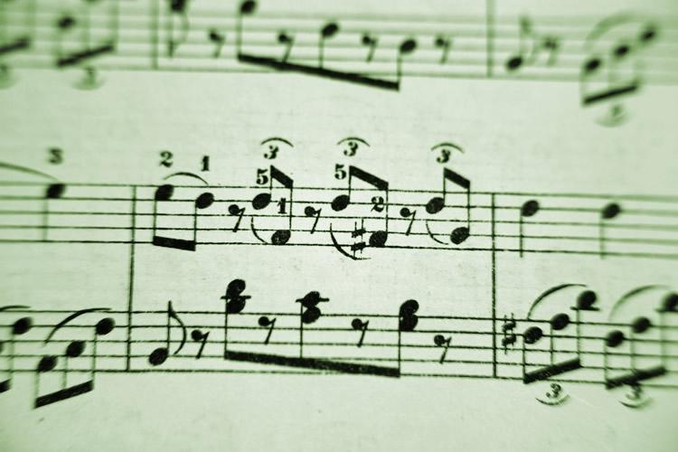 Dettaglio di spartito musicale