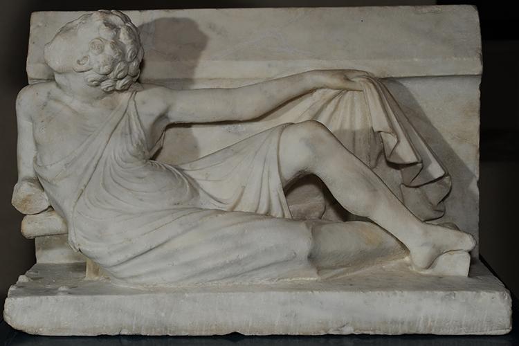 Particolare della fontana di Arnolfo di Cambio a Perugia