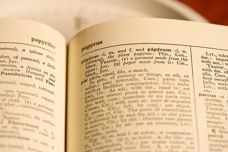Vocabolario di latino