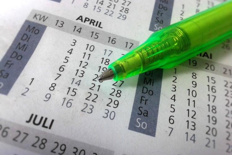 dettaglio di un calendario