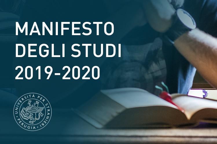 Manifesto degli studi 2019-2020