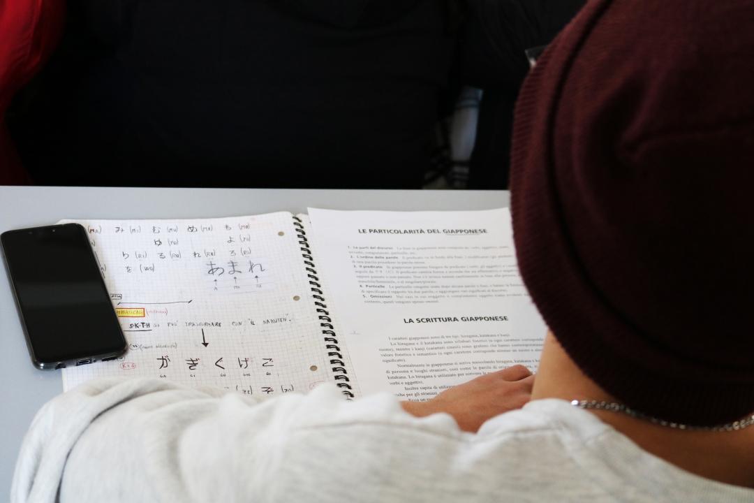 studente durante l'evento
