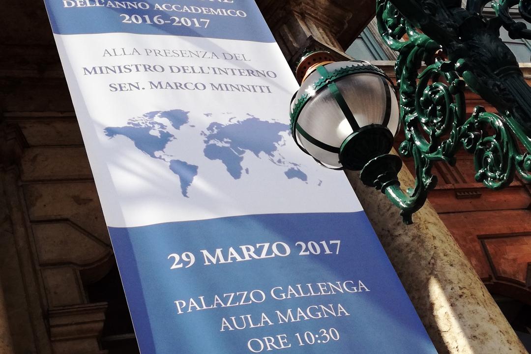Inaugurazione a.a. 2016-2017 alla presenza del Ministro dell'Interno, Sen. Marco Minniti