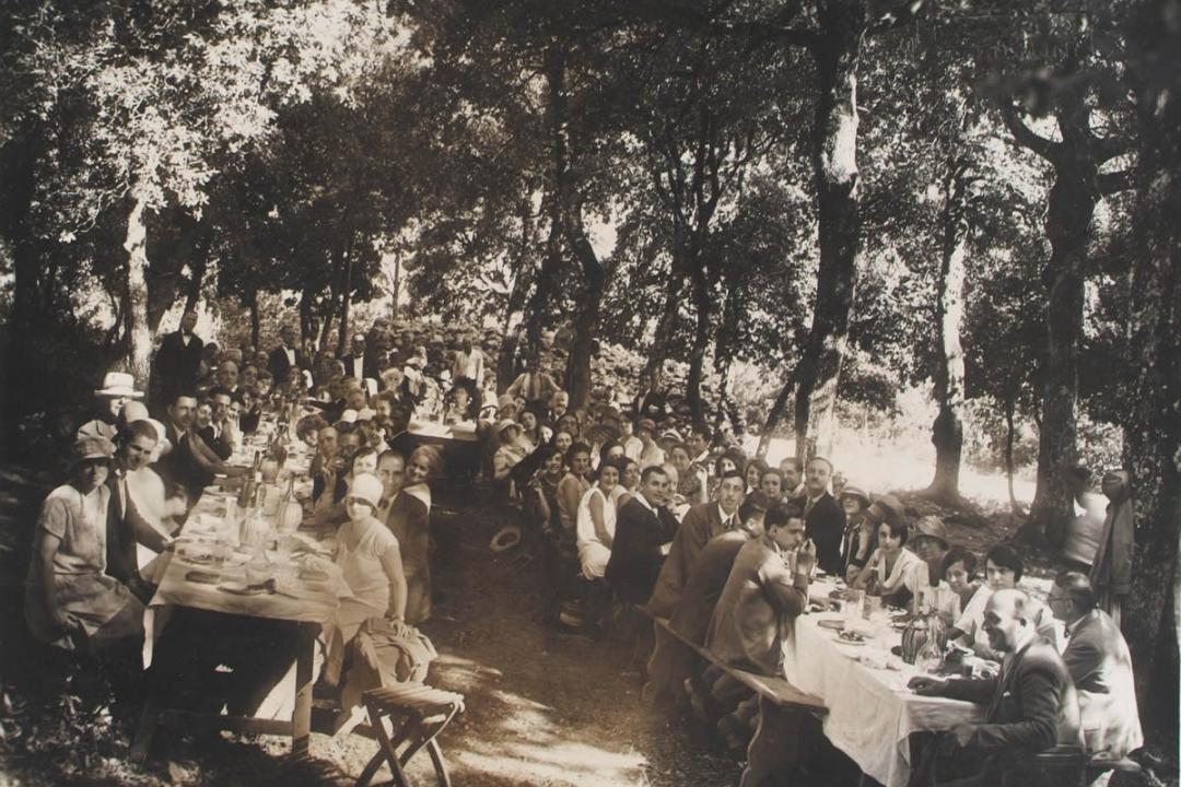 26 agosto 1928 - Spoleto - Pranzo nel bosco di Monteluco