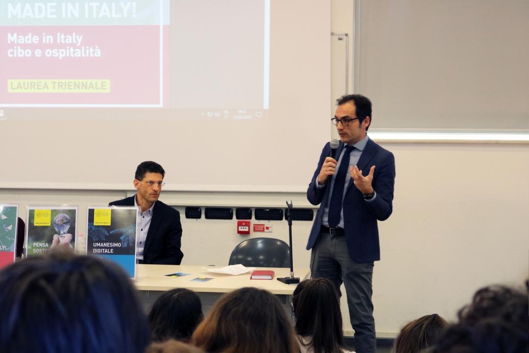 intervento del prof. Antonio Allegra, delegato rettorale all'orientamento