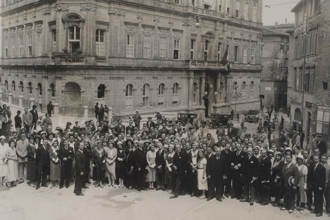 10 luglio 1932 - Visita all'Università di S. E. Di Marzo, Sottosegretario di Stato per l'educazione nazionale