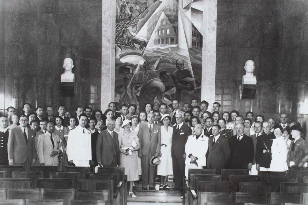 22 luglio 1938 - Il Presidente del Consiglio dei Ministri d'Ungheria S. E. Bela Imredy visita l'Università