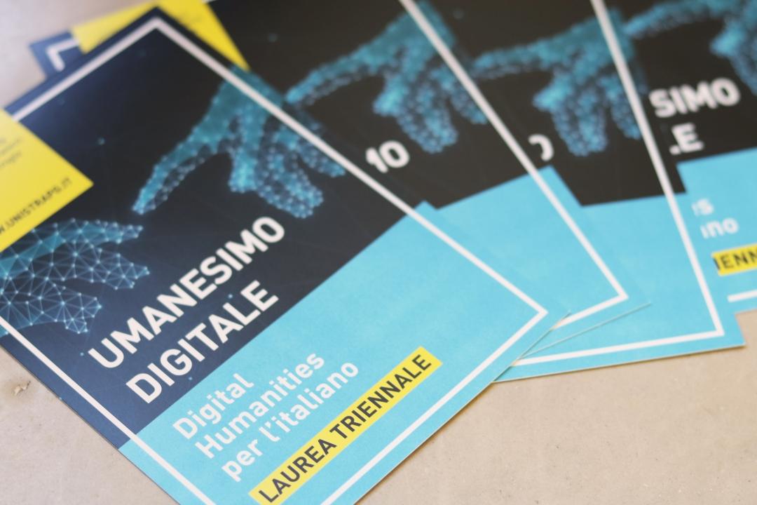 le cartoline informative del corso in Digital Humanities per l'italiano