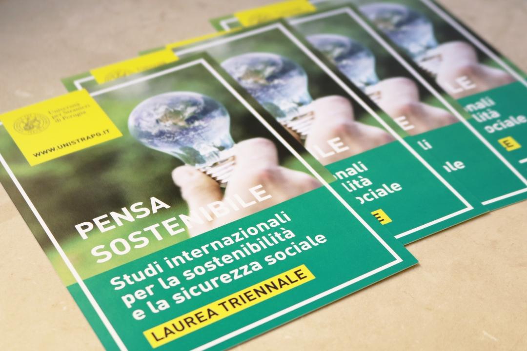 le cartoline informative del corso in Studi internazionali per la sostenibilità e la sicurezza sociale