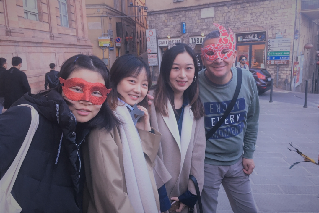 studenti mascherati