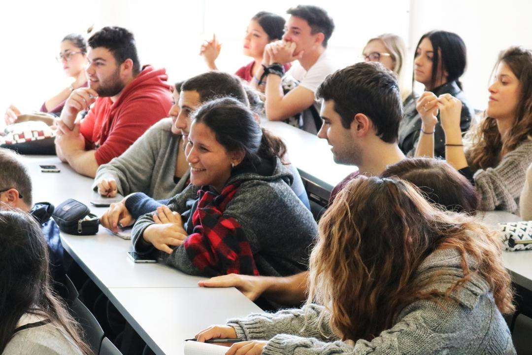 studenti durante l'incontro