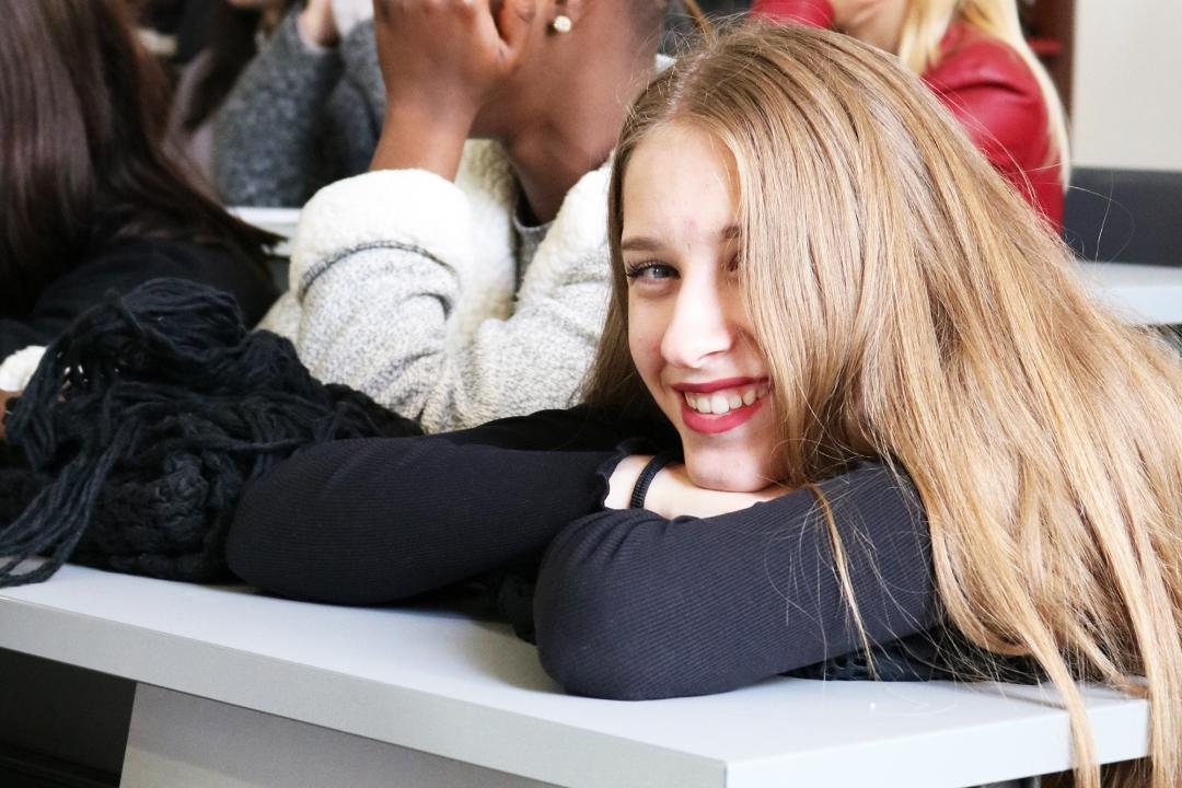 studentessa durante l'incontro